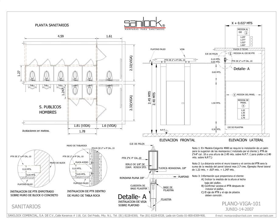 Puertas De Baño A Medida:Plano-de-especificaciones-de-vigajpg